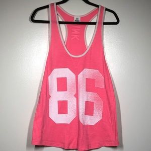 PINK by VS Pink 86 Racerback Tank Top Size Large